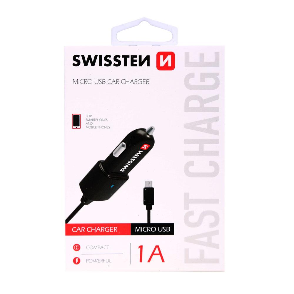 Autoadaptér Swissten CL micro USB 1A power