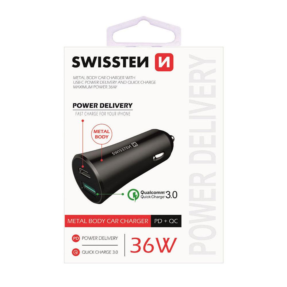 Autoadaptér Swissten CL micro USB a USB 2,4A power