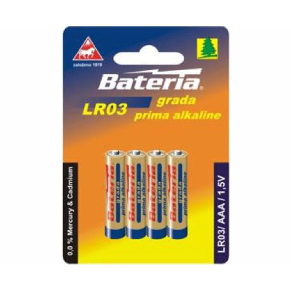 Batérie LR03 Bateria Grada prima alkalicka AAA 1,5V (4ks)