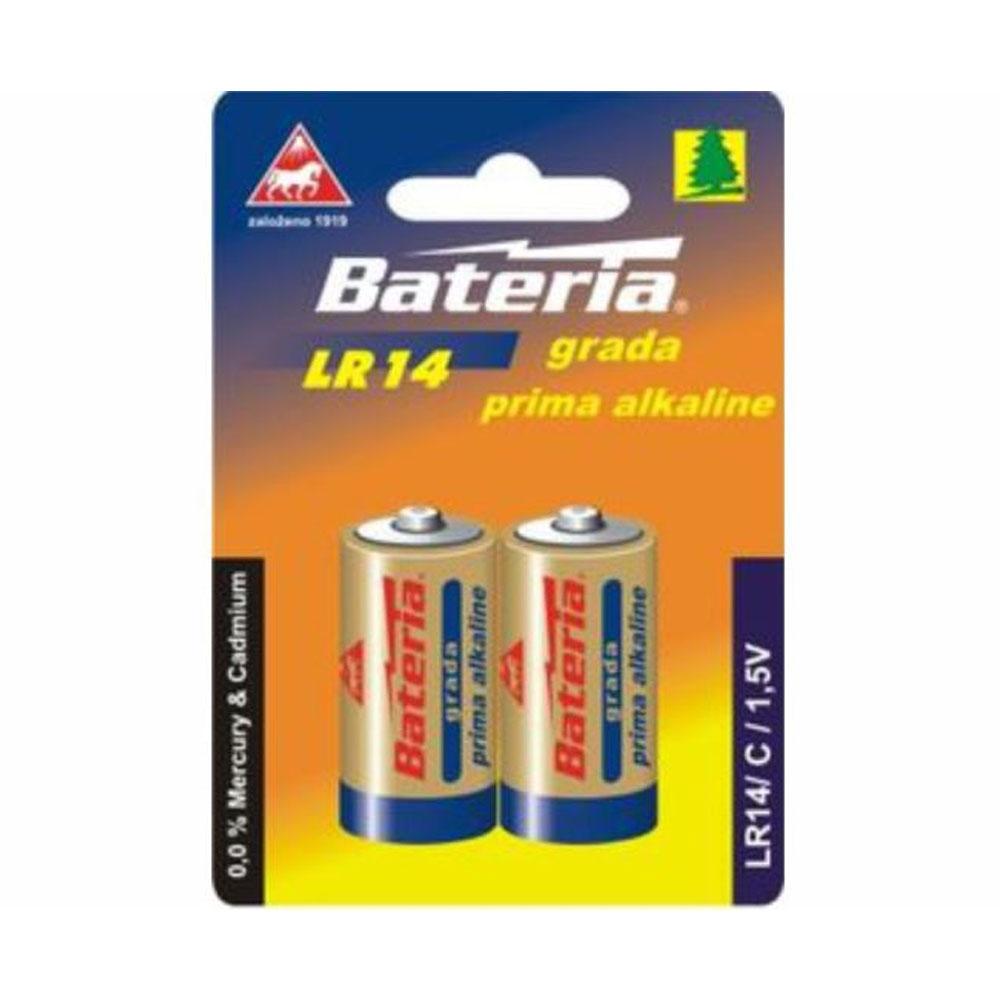Batérie LR14 Bateria Grada Prima alkalické C 1,5V (2ks)