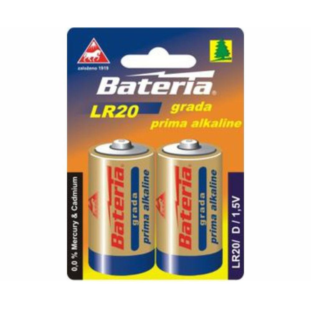 Batérie LR20 Bateria Grada Prima alkalické D 1,5V (2ks)
