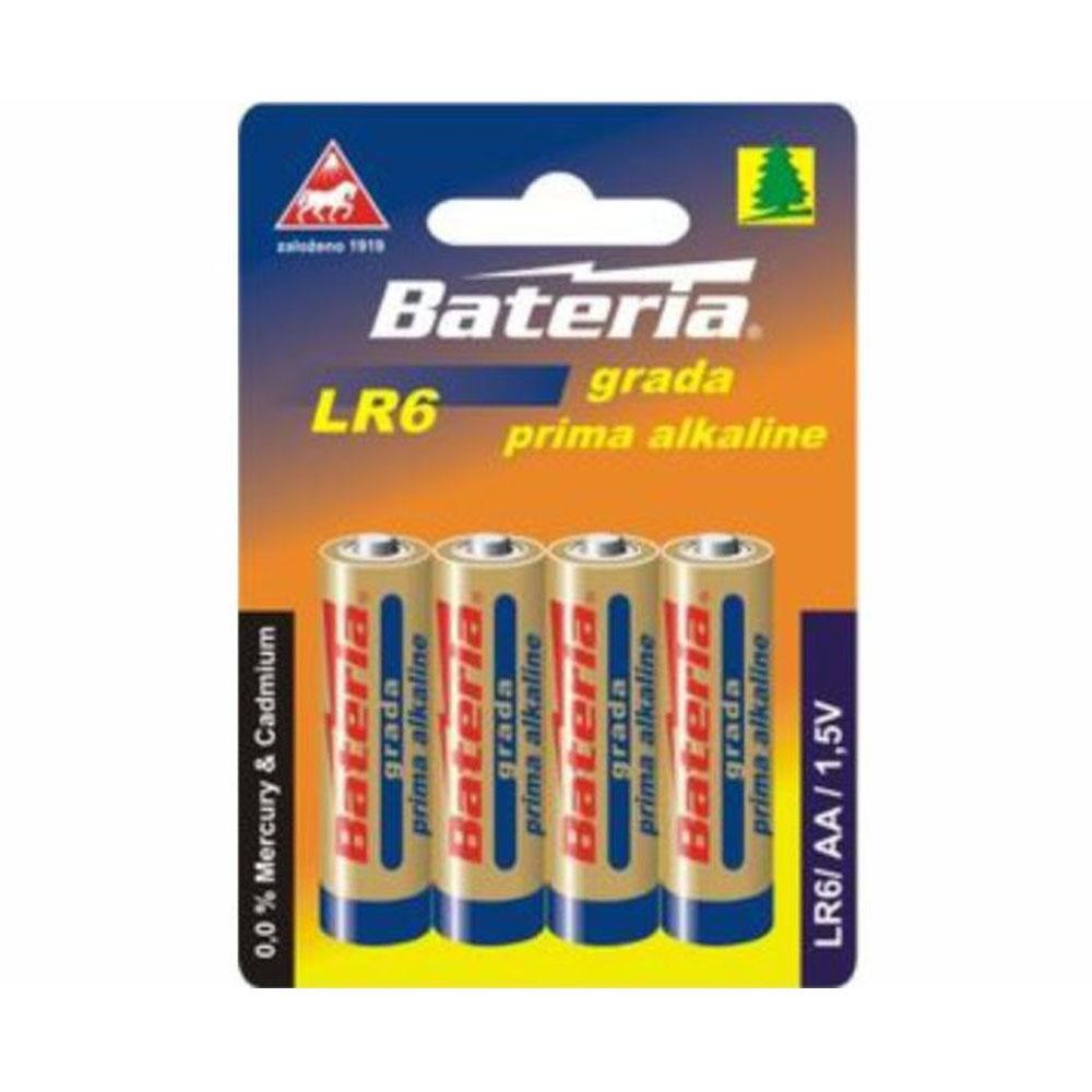 Batérie LR6 Bateria Grada prima alkalicka AA 1,5V (4ks)