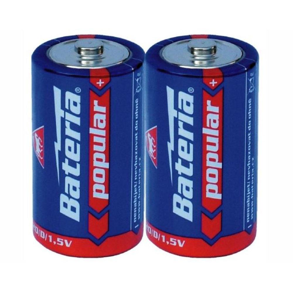 Batérie R20 Bateria Popular D 1,5V (2ks)