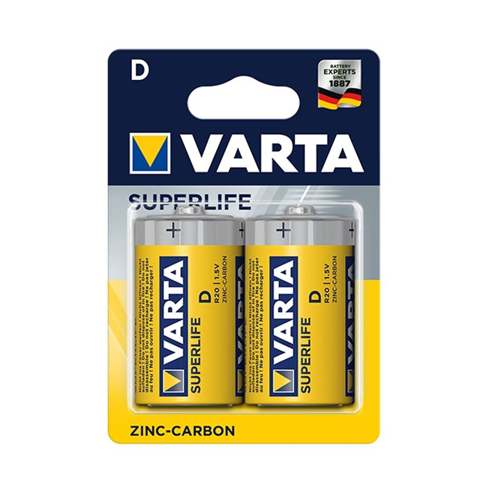 Batérie VARTA Superlife D R20P 1,5V (2ks)