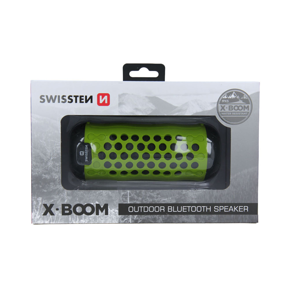 Bluetooth reproduktor Swissten X-BOOM limetkový