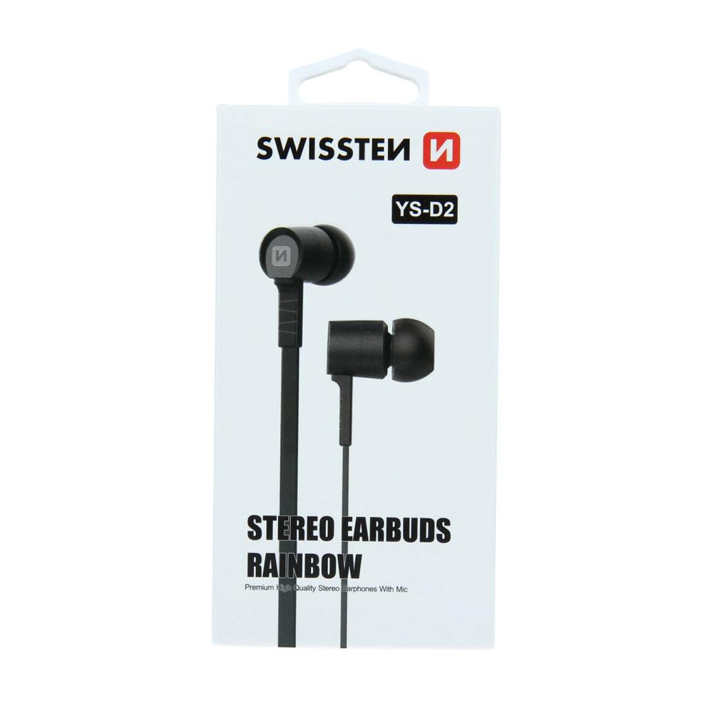 Slúchadlá Swissten Earbuds Rainbow YS-D2 čierne