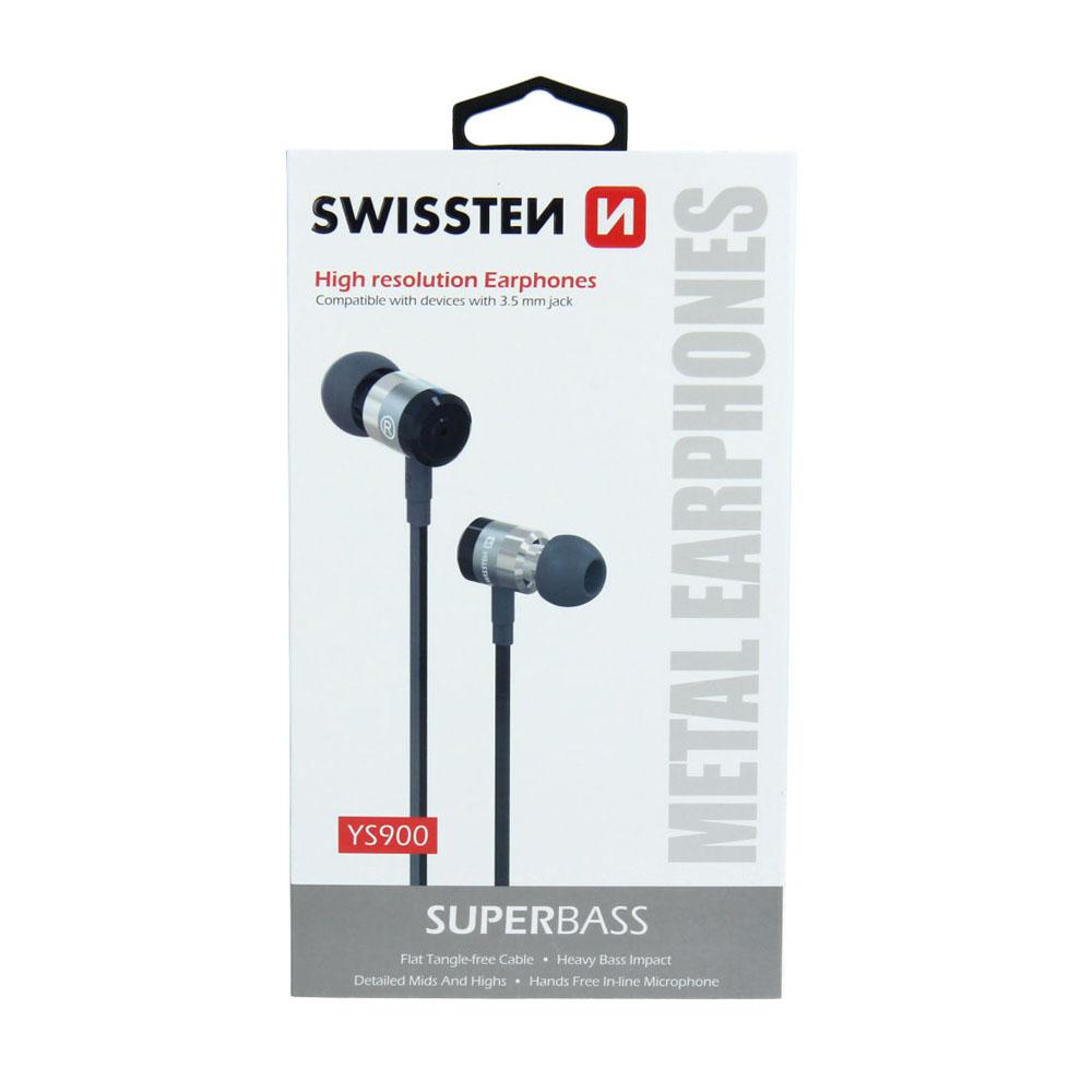 Slúchadlá Swissten Earbuds SuperBass YS900 čierne