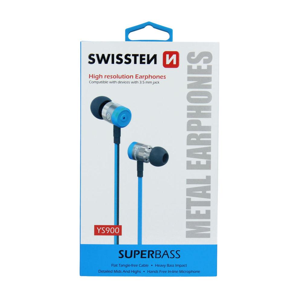 Slúchadlá Swissten Earbuds SuperBass YS900 modré