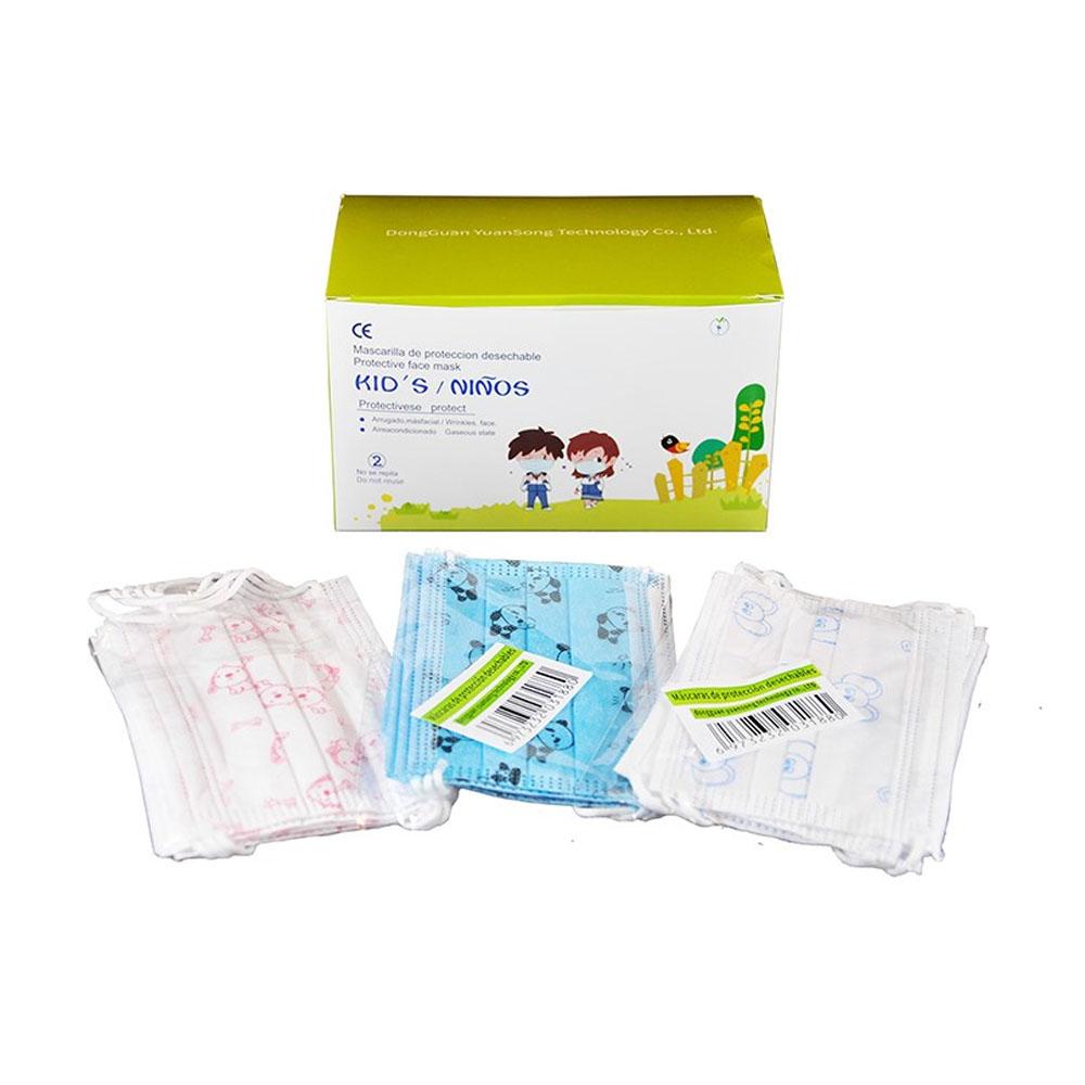 Detská ochranná maska - jednorázové trojvrstvové rúško na tvár (50ks)