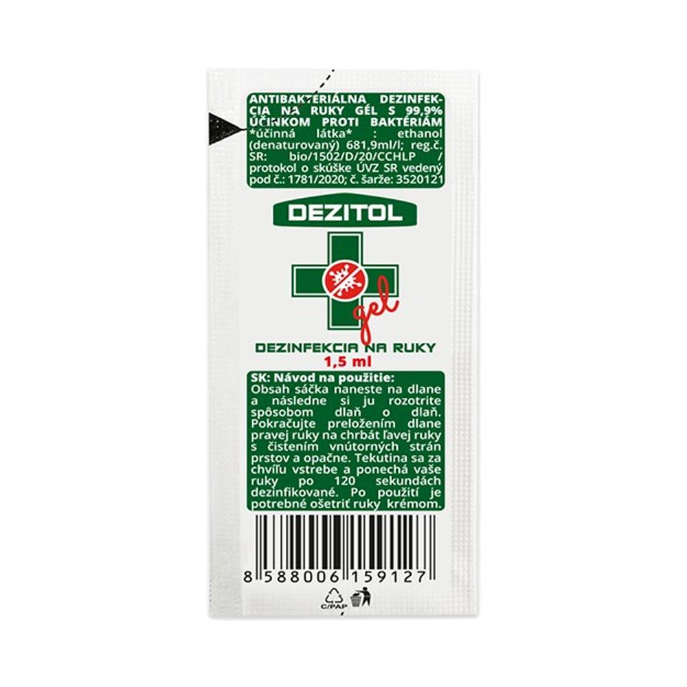 Dezinfekcia - dezinfekčný gél na ruky DEZITOL 1,5ml