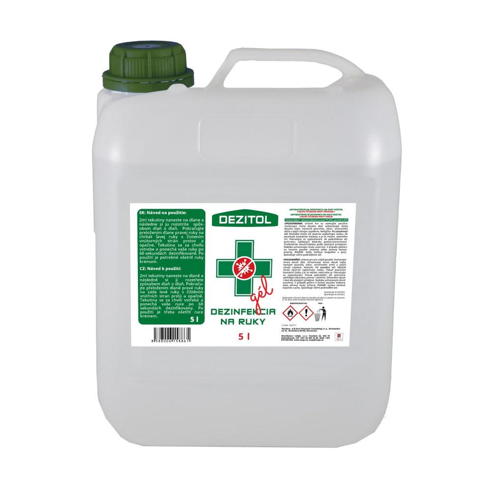 Dezinfekcia - dezinfekčný gél na ruky DEZITOL 5L