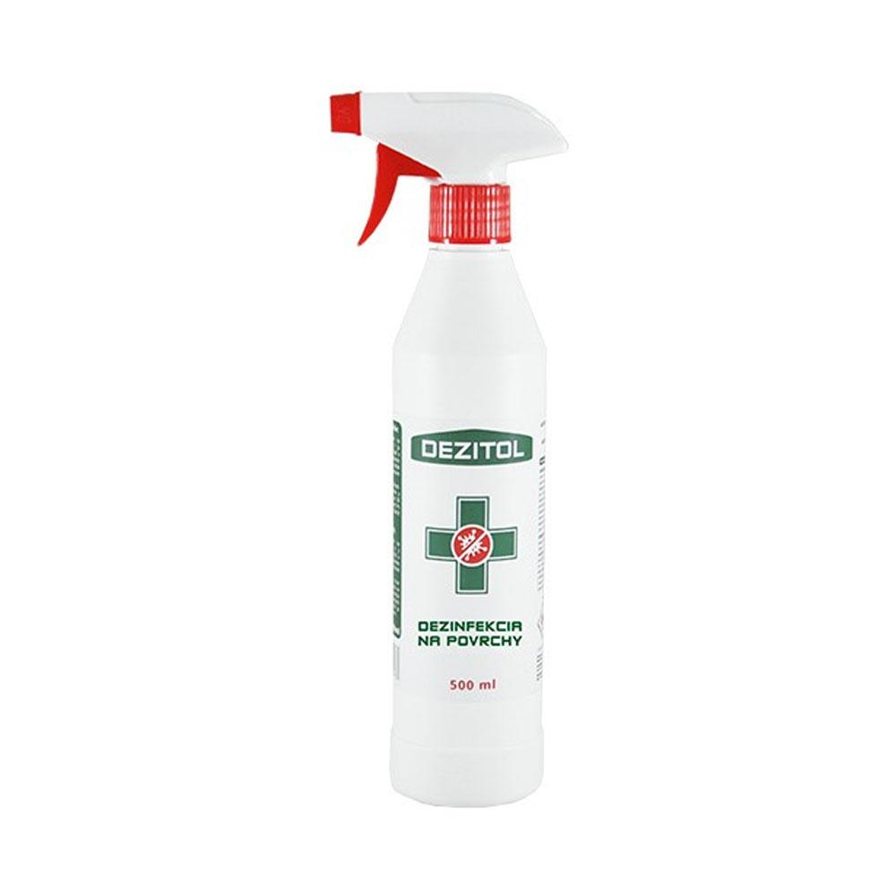 Dezinfekcia - dezinfekčný roztok na plochy DEZITOL 500ml, s rozprašovačom