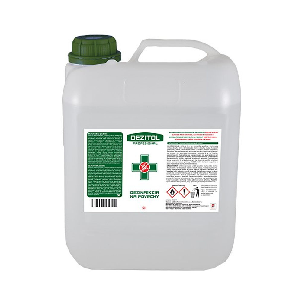 Dezinfekcia - dezinfekčný roztok na plochy DEZITOL 5L