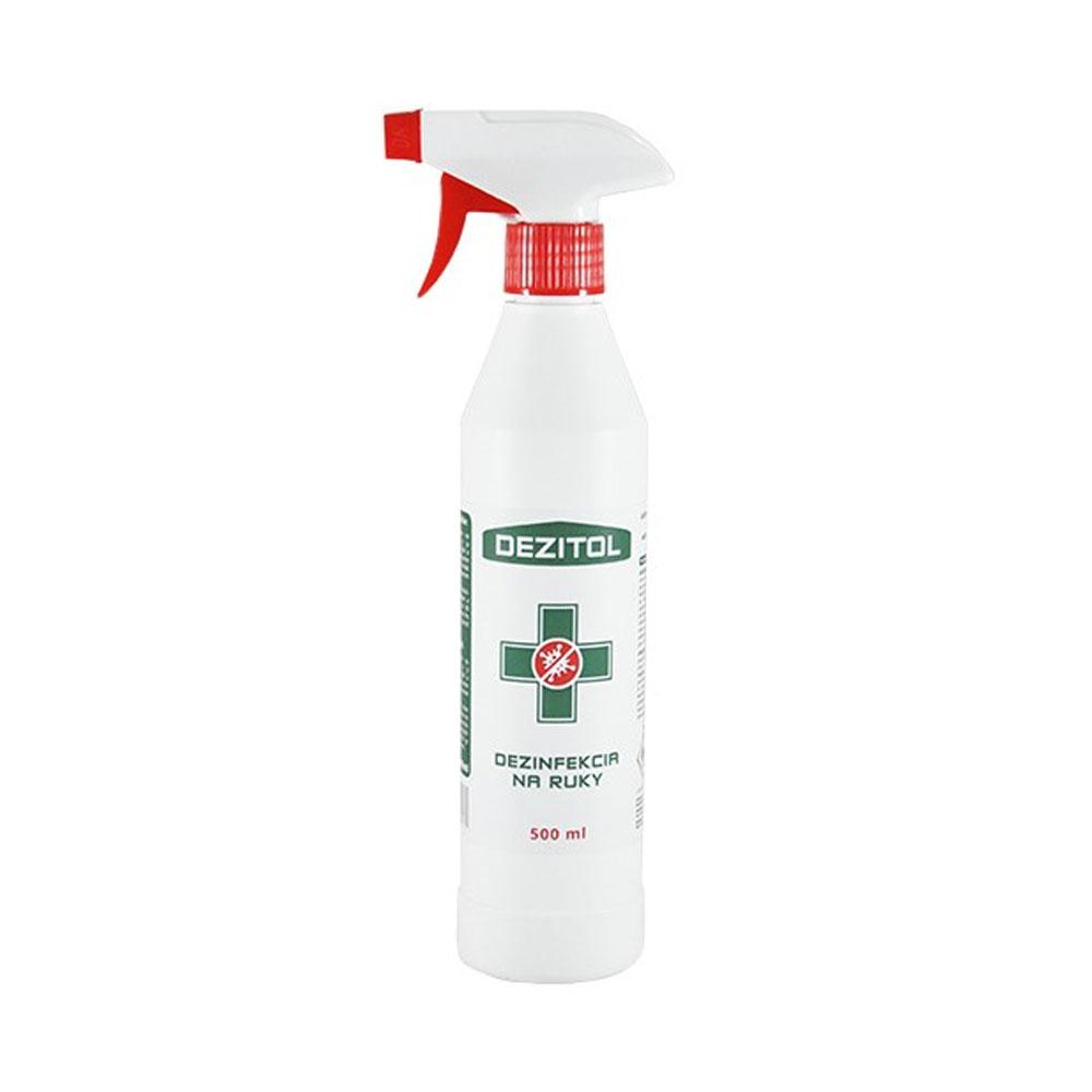 Dezinfekcia - dezinfekčný roztok na ruky DEZITOL 500ml, s rozpračovačom