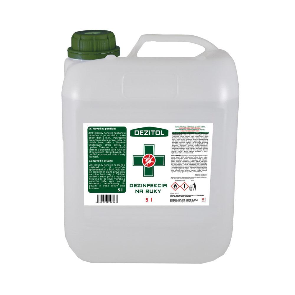 Dezinfekcia - dezinfekčný roztok na ruky 5L