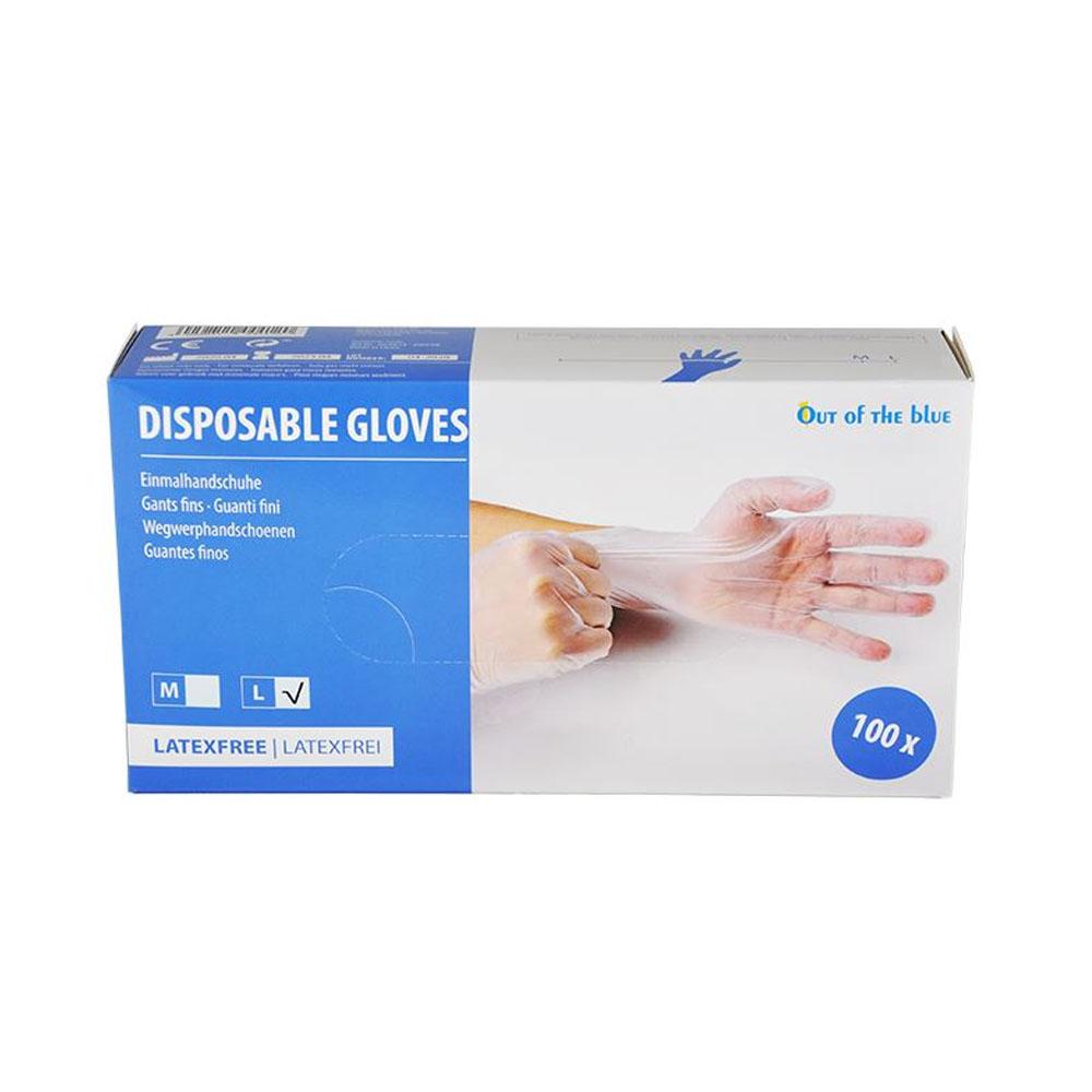 Ochranné rukavice OTB Vinyl jednorazové nepudrované L 100ks