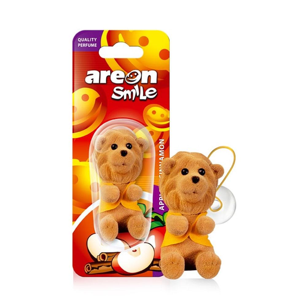 Osviežovač vzduchu Areon Smile Toy – vôňa Apple & Cinnamon, motív Lev