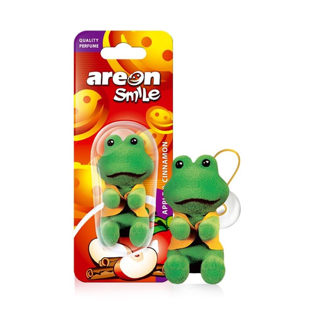 Osviežovač vzduchu Areon Smile Toy – vôňa Apple & Cinnamon, motív Žaba