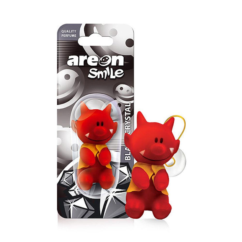 Osviežovač vzduchu Areon Smile Toy – vôňa Black Crystal, motív Čert
