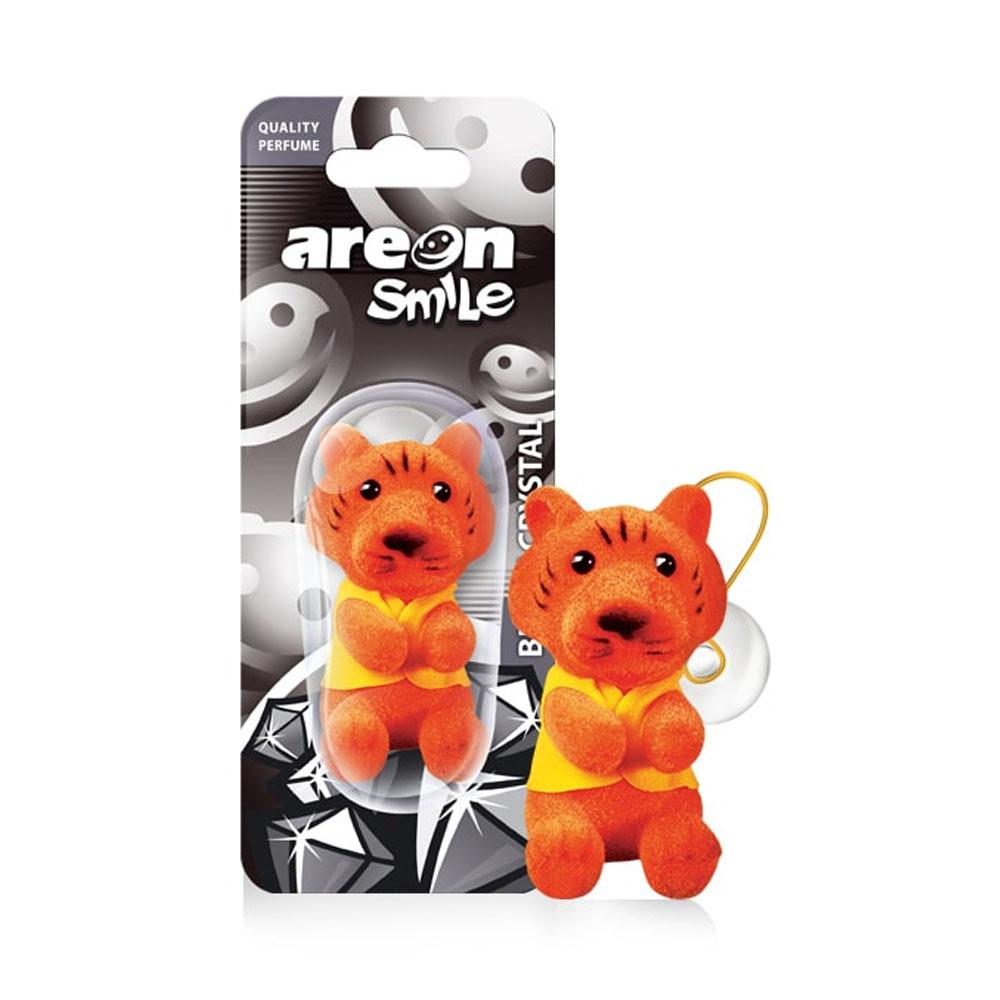 Osviežovač vzduchu Areon Smile Toy – vôňa Black Crystal, motív Tiger