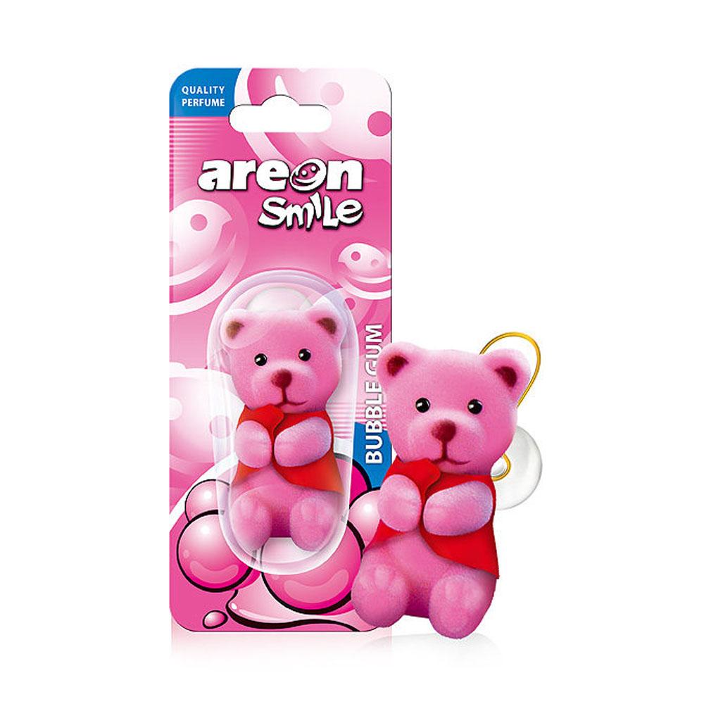 Osviežovač vzduchu Areon Smile Toy – vôňa Bubble Gum , motív Ružový macko