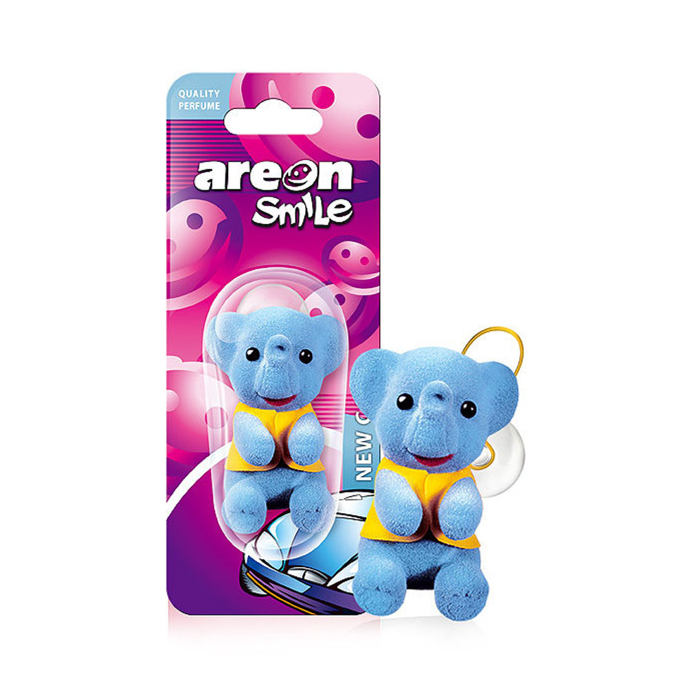 Osviežovač vzduchu Areon Smile Toy – vôňa New Car, motív Sloník