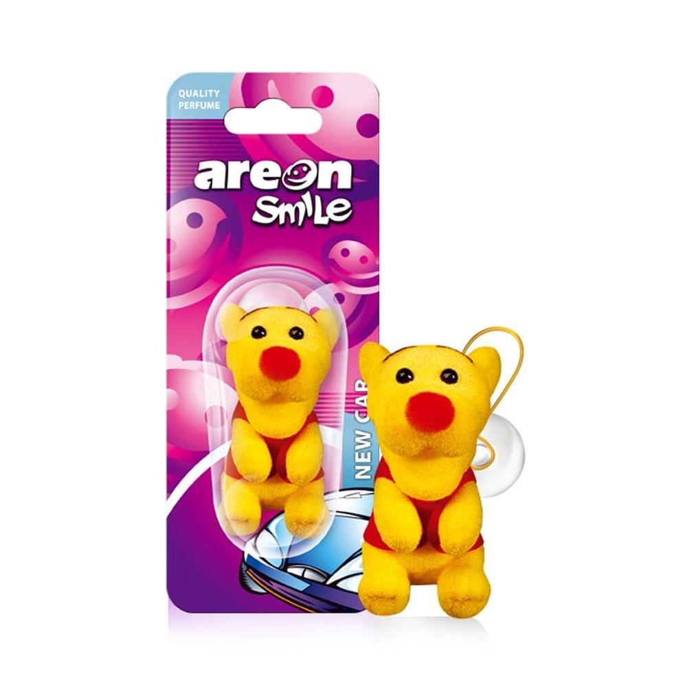 Osviežovač vzduchu Areon Smile Toy – vôňa New Car , motív Žltý tiger