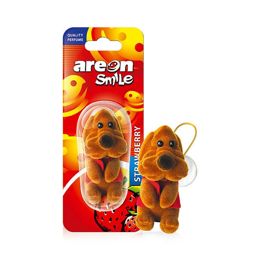 Osviežovač vzduchu Areon Smile Toy – vôňa Strawberry , motív Hnedý pes