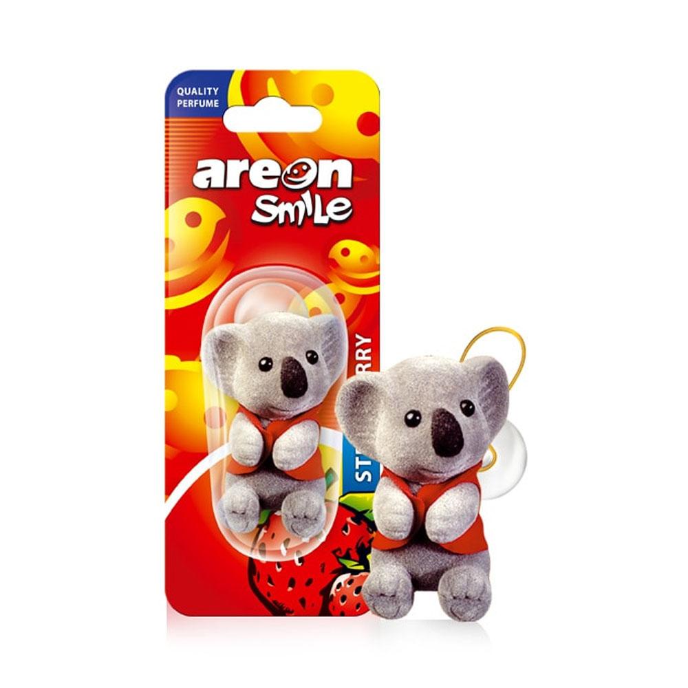 Osviežovač vzduchu Areon Smile Toy – vôňa Strawberry, motív Koala