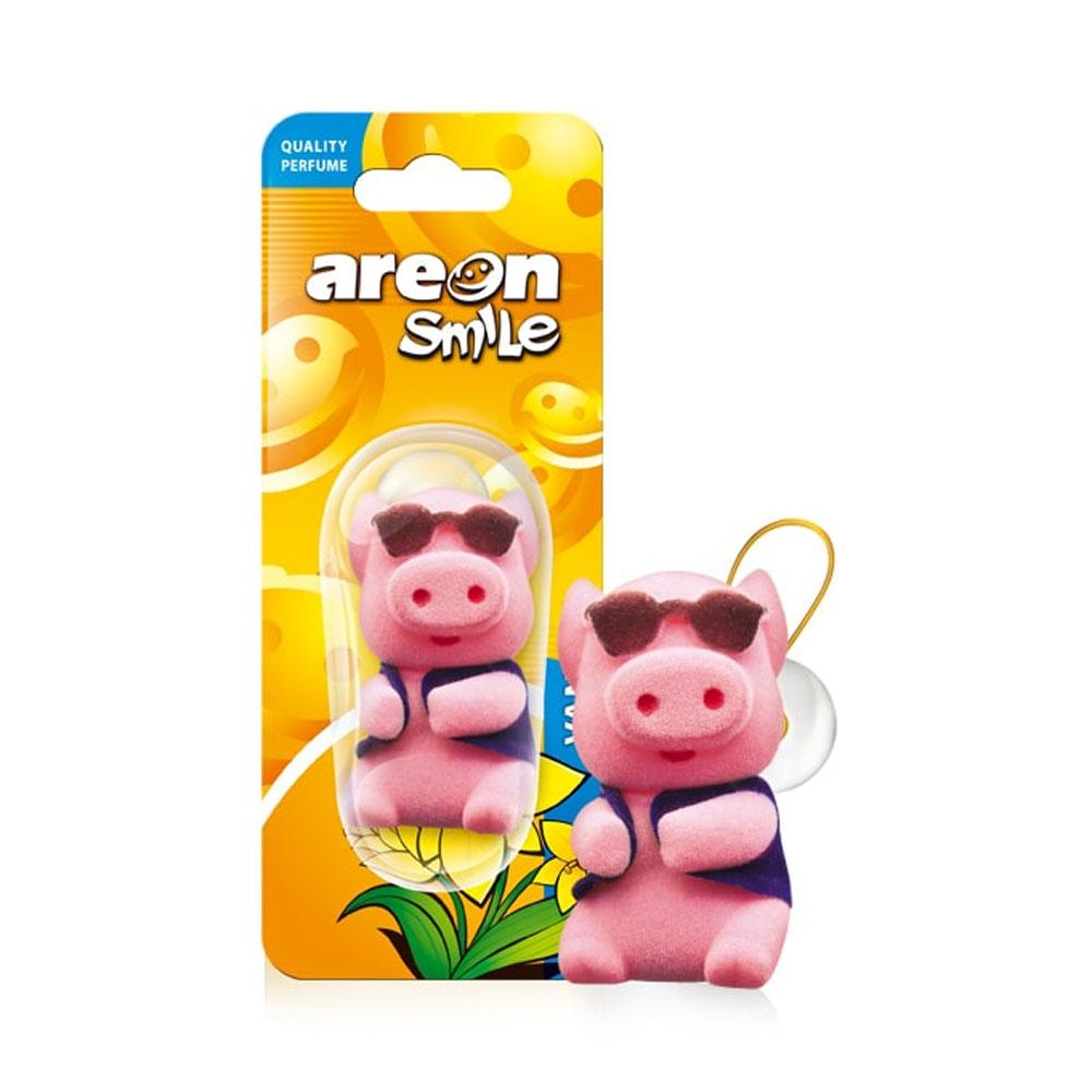 Osviežovač vzduchu Areon Smile Toy – vôňa Vanilla, motív Prasiatko