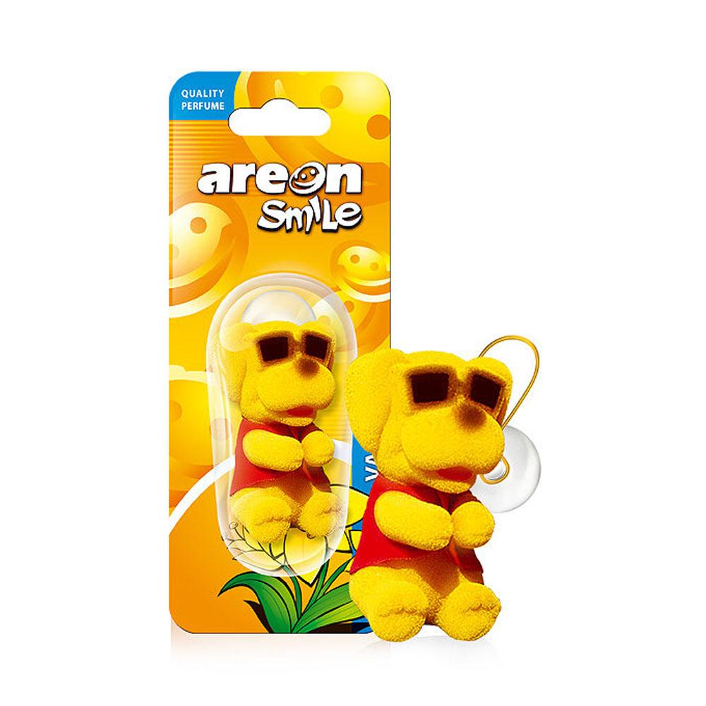 Osviežovač vzduchu Areon Smile Toy – vôňa Vanilla , motív Žltý pes
