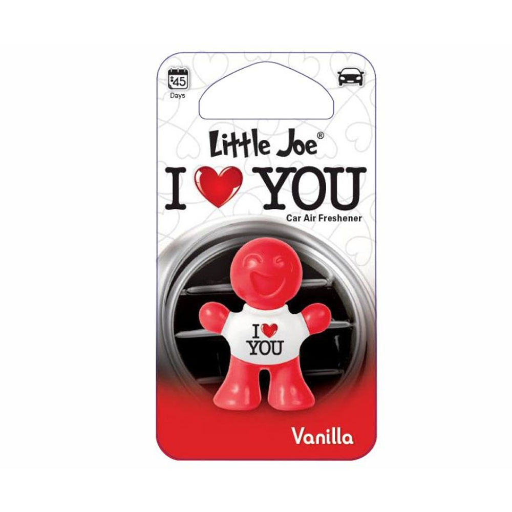 Osviežovač vzduchu Little Joe 3D – vôňa Vanilla, motív I Love You