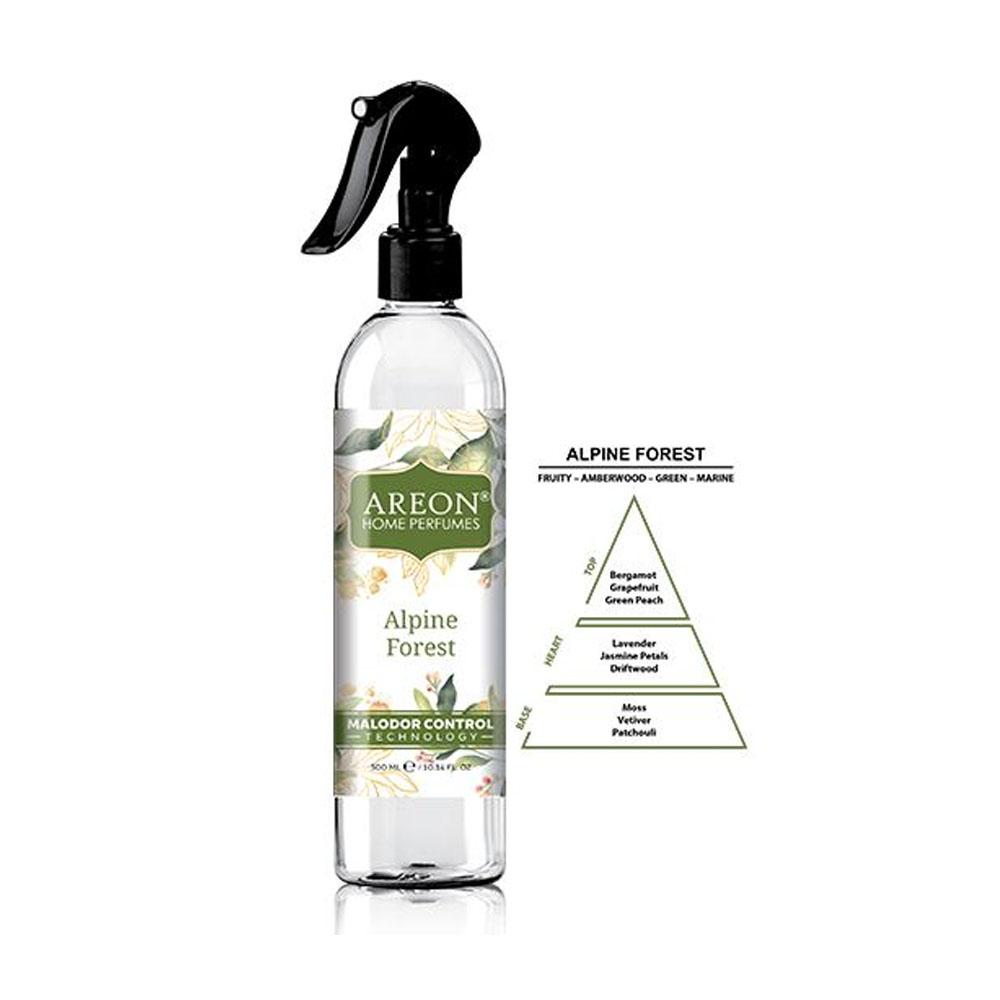 Sprej na elimináciu zápachu Areon Malodor Control – vôňa Alpine Forest