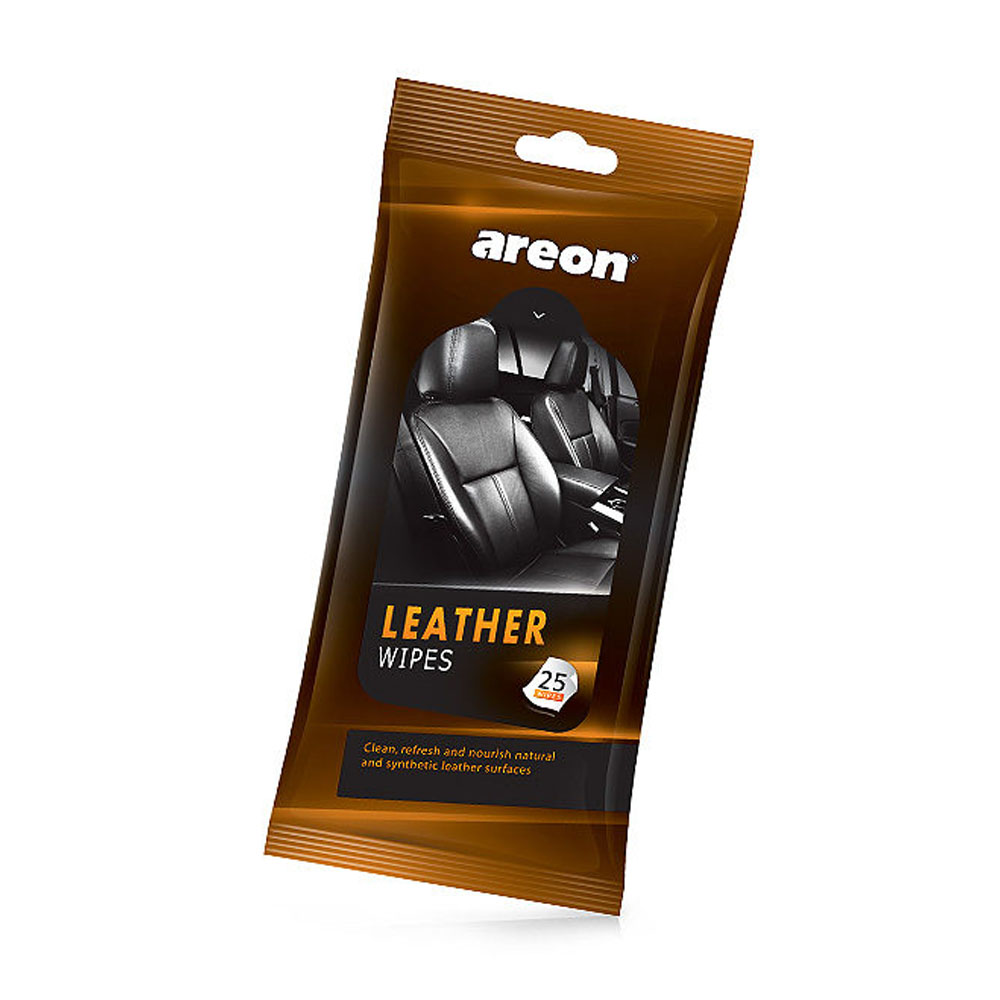 Vlhčené utierky Areon Car Wipes - Leather