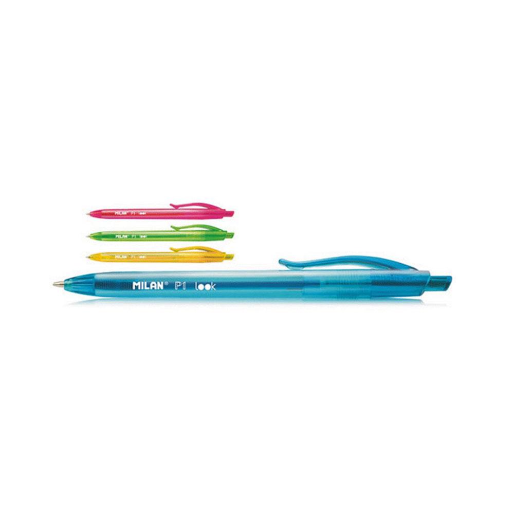 Guličkové pero pogumované, farebné - MILAN P1 LOOK
