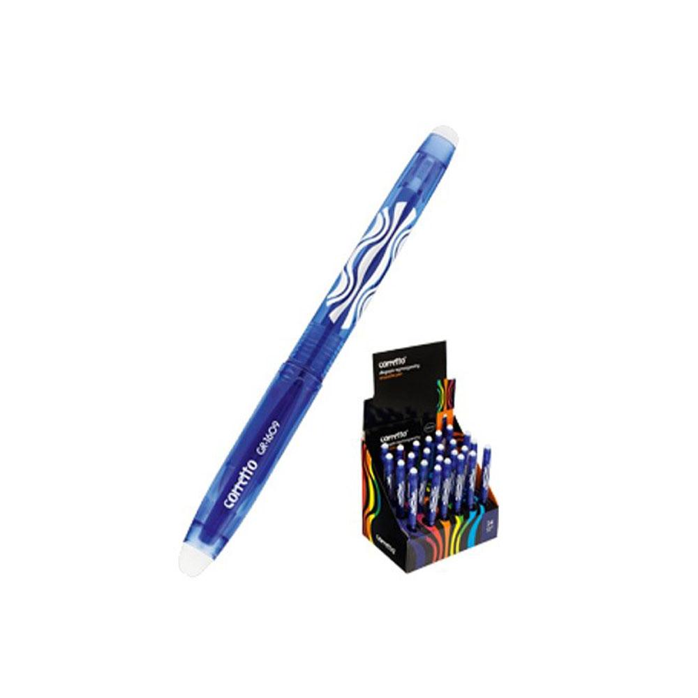 Gumovateľné modré pero Corretto