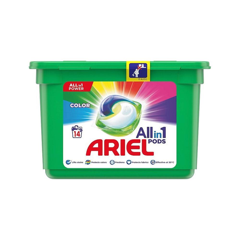 Kapsule na pranie Ariel All in 1 Color - 14ks