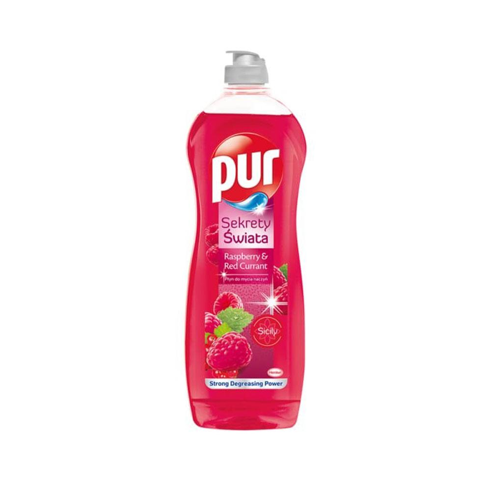 Prostriedok na umývanie riadu Pur Raspberry; Red Currant 750 ml