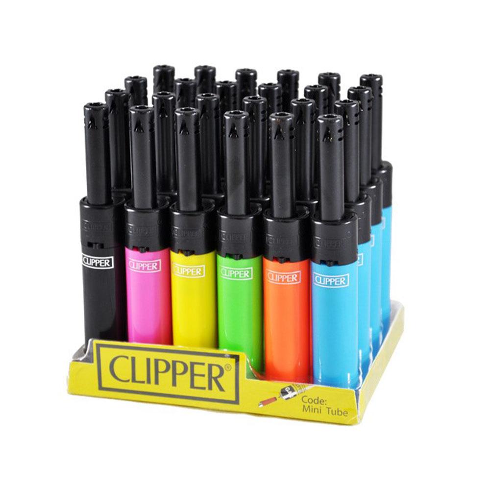 Sporákový zapaľovač CLIPPER Mini Tube - vzor mix farieb