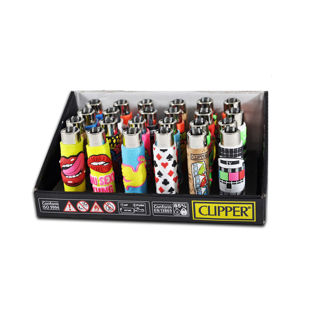Zapaľovač CLIPPER guma - vzor mix obrázkov