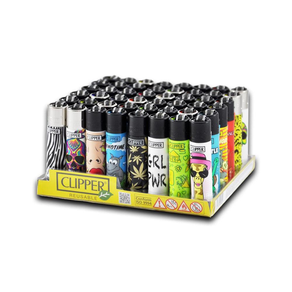 Zapaľovač veľký CLIPPER - vzor mix obrázkov