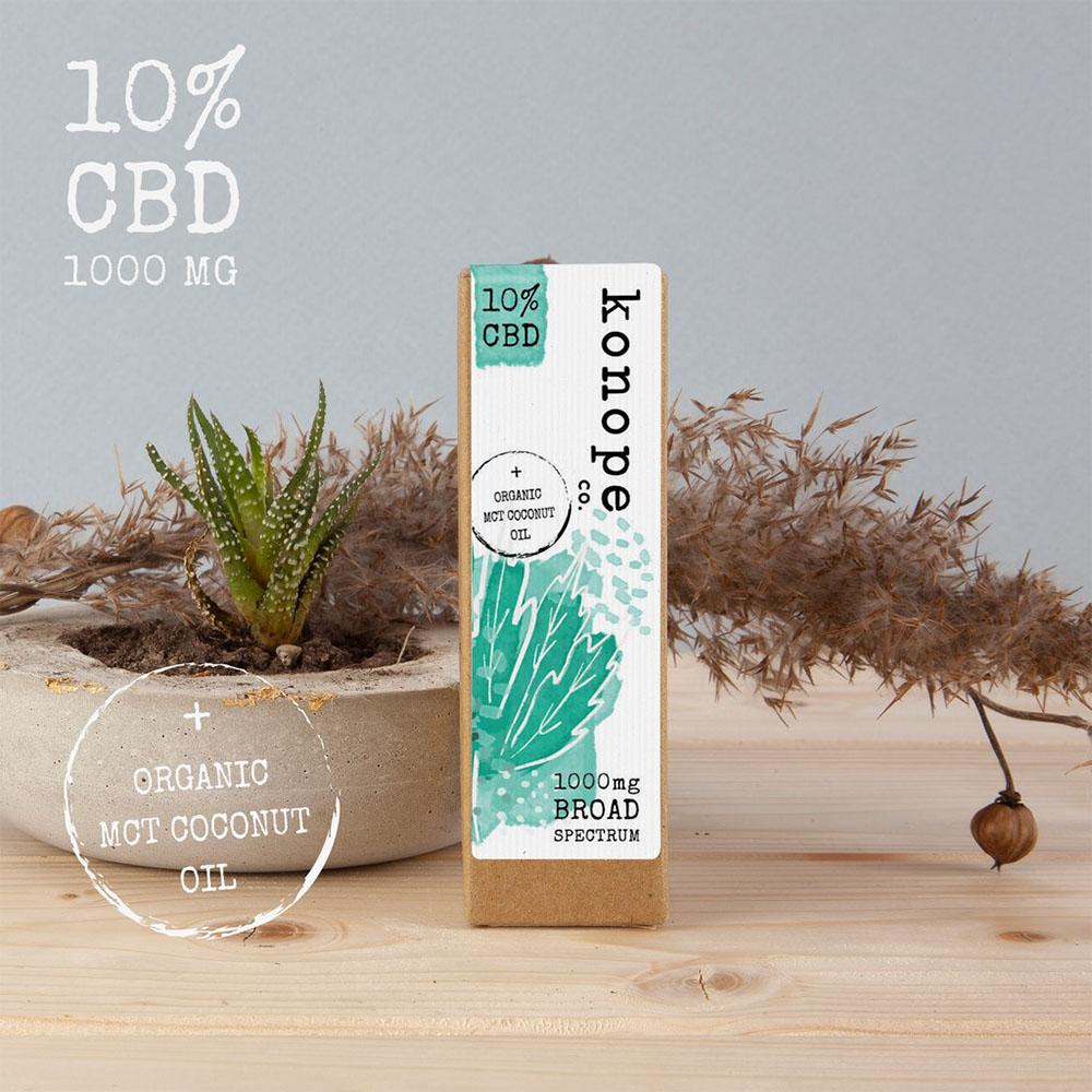 10% CBD v organickom MCT kokosovom oleji - široké spektrum