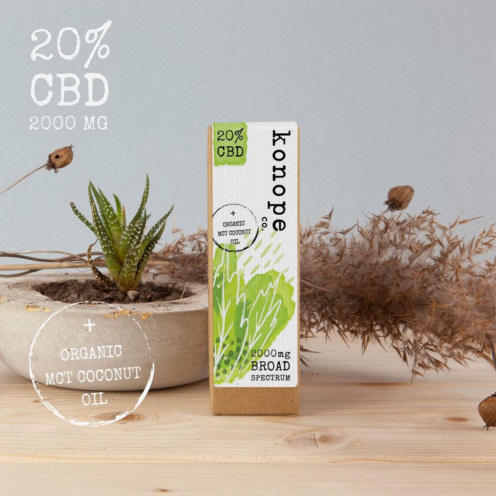 20% CBD v organickom MCT kokosovom oleji - široké spektrum