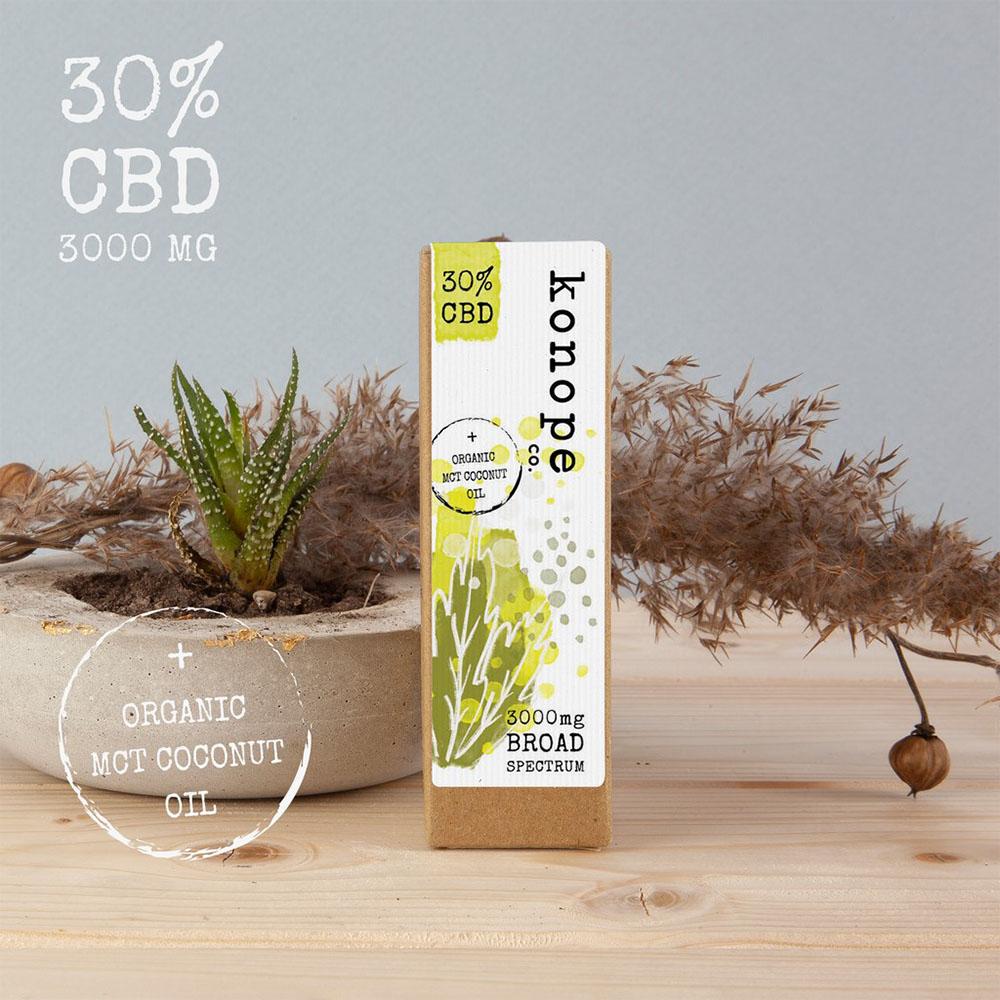 30% CBD v organickom MCT kokosovom oleji - široké spektrum [3000 mg CBD] (10ml)