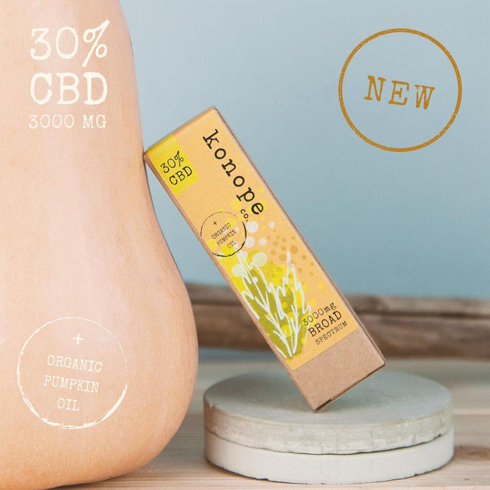 30% CBD v organickom tekvicovom oleji - široké spektrum [3000 mg CBD] (10 ml)