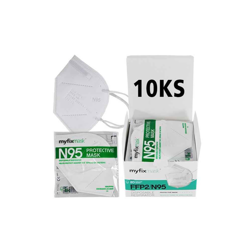 Biely respirátor FFP2 (10ks)