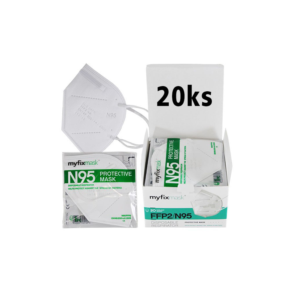 Biely respirátor FFP2 (20ks)