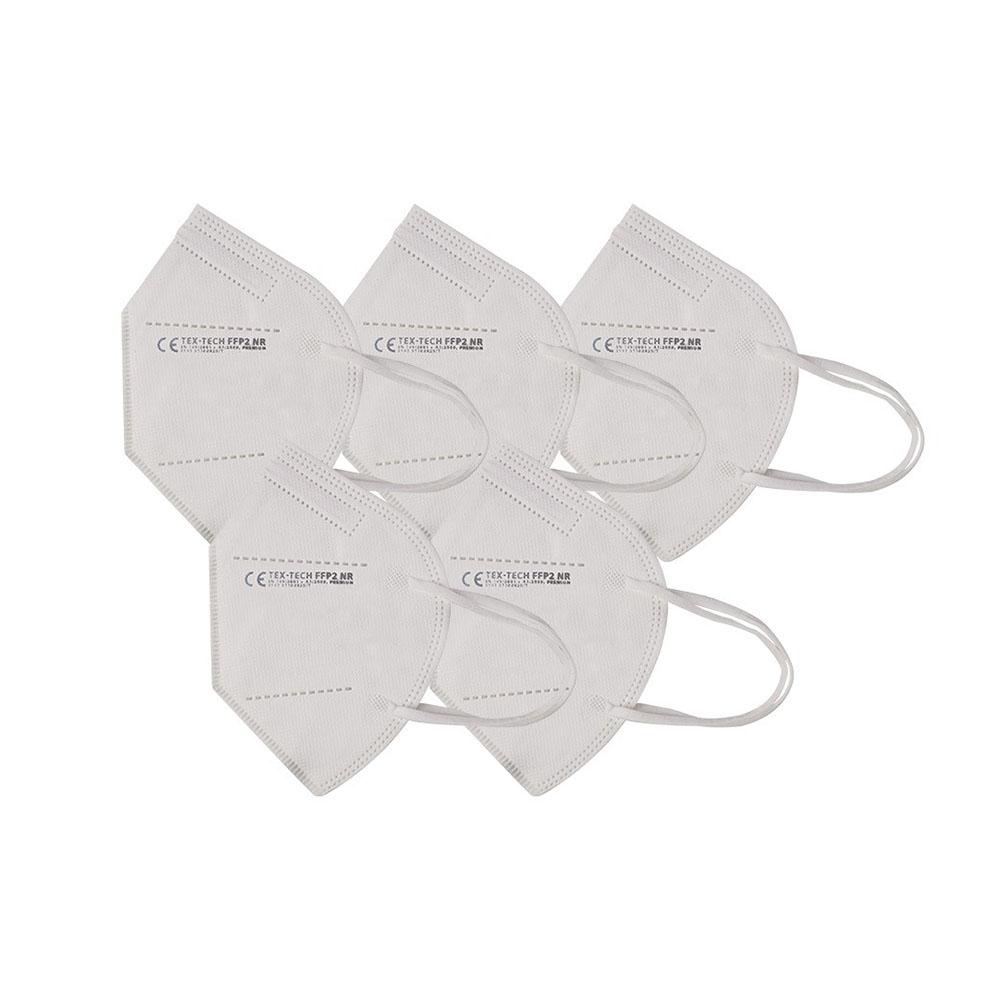 Biely respirátor FFP2 (5ks)TEX TECH