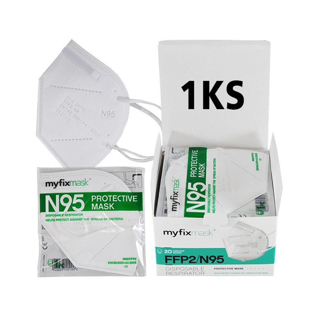 Biely respirátor FFP2 (1ks)