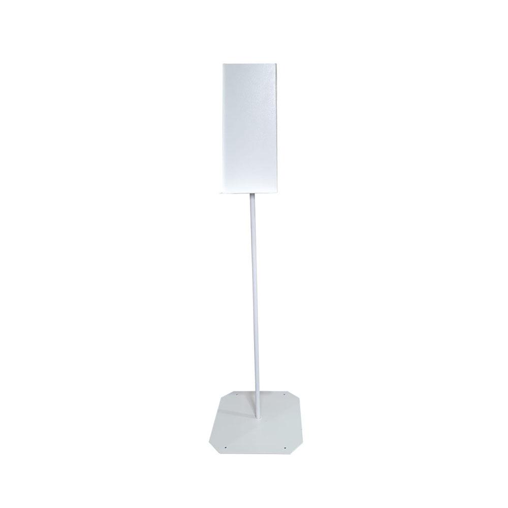 Biely stojan na bezkontaktný dávkovač
